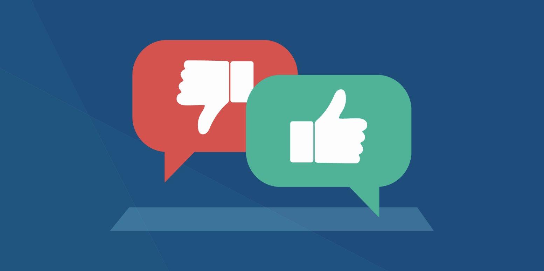 Website feedback good and bad.