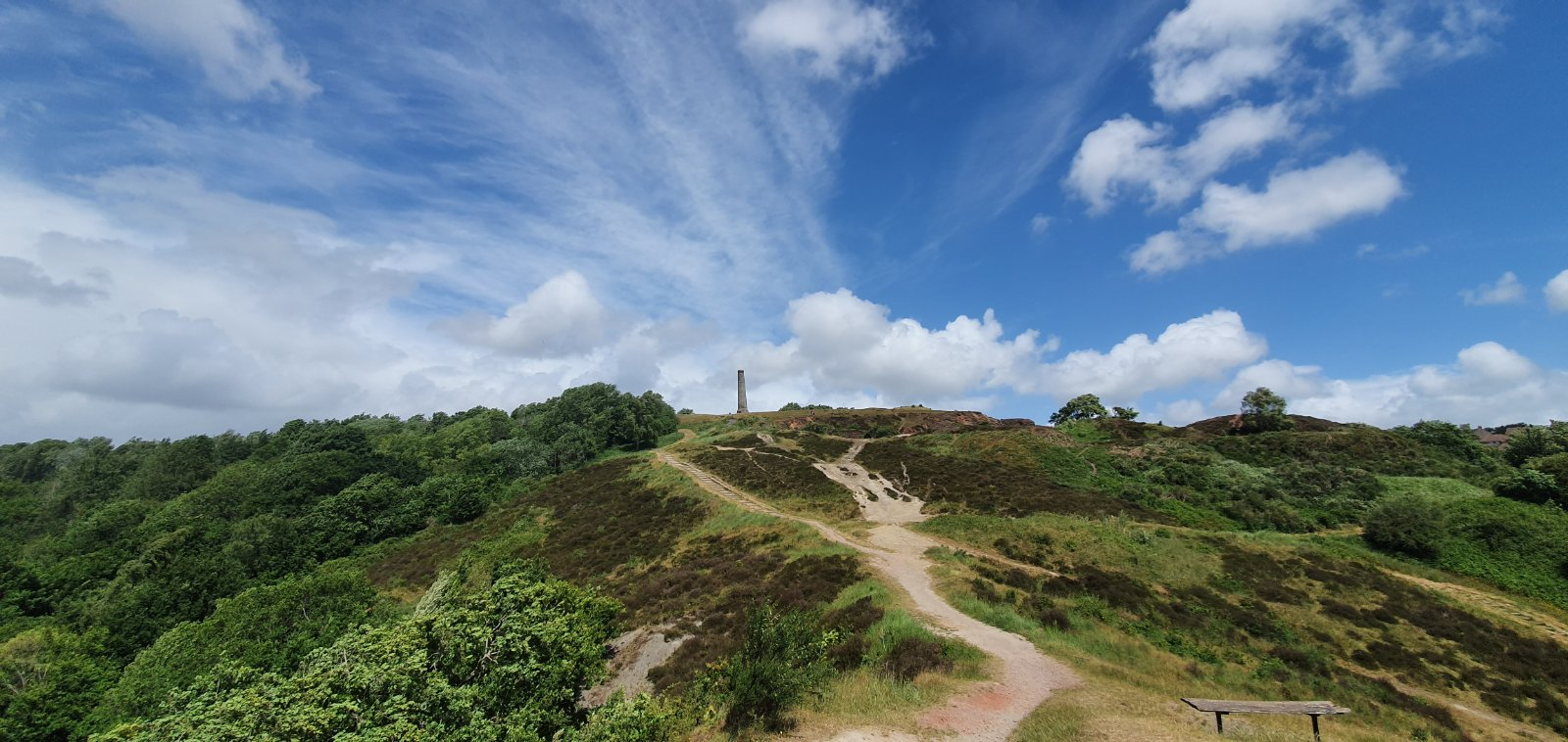Visitors walk up the main path to the top of Troopers Hill in Bristol